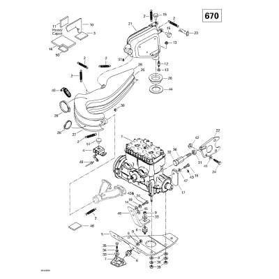 Engine Support And Muffler (670)