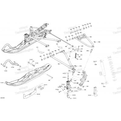 Front Suspension And Ski MXZ Engine 850 E-TEC - Package Blizzard