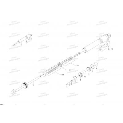 Задний амортизатор - 800R E-TEC