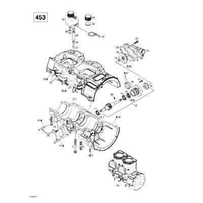 Crankcase, Water Pump (453)