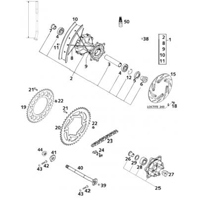 Rear Wheel Suspended Lc4 2001