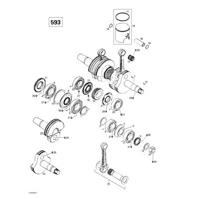Crankshaft And Pistons (453)