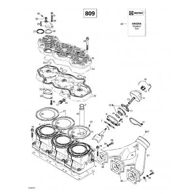 Cylinder, Exhaust Manifold (809)