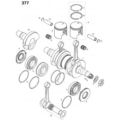 Crankshaft And Pistons 377
