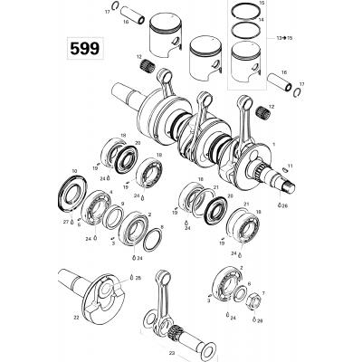 Crankshaft And Pistons 599