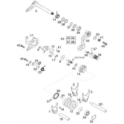 Shift Mechanism 125/200 2001