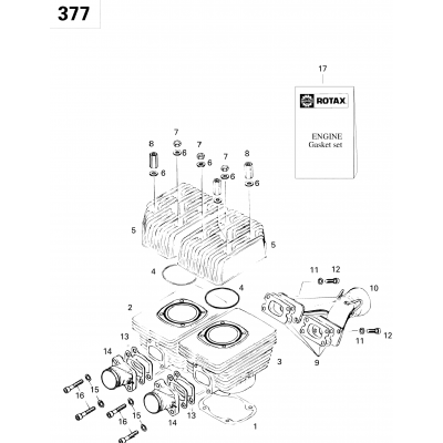 Cylinder And Exhaust Manifold 377