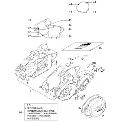 Engine Case 125/200 '2000