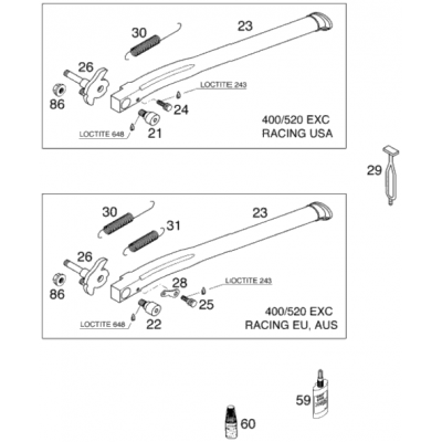 Side Stand 400/520 Racing 2000