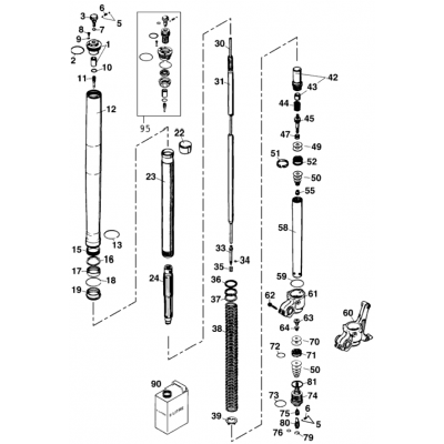 Fork Leg Wp Usd 43 Lc4 2001