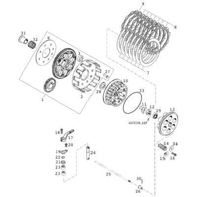 Clutch Starter Engine 2000