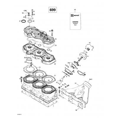 Cylinder, Exhaust Manifold (699)