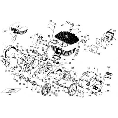 Motor S5-Gs Morini 50Ccm 2001