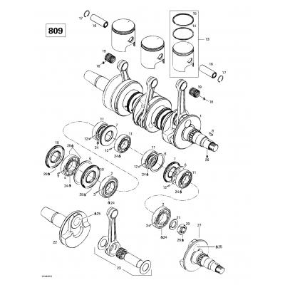 Crankshaft And Pistons (809)