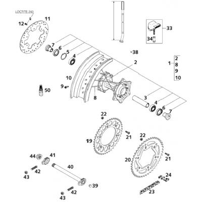Rear Wheel 125 Super Moto 2001