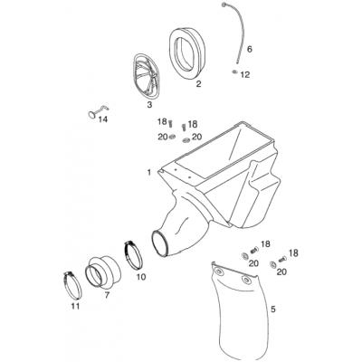 Air Filter Box 60/65 '98
