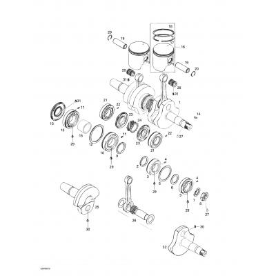 Коленвал, Поршни двигателя