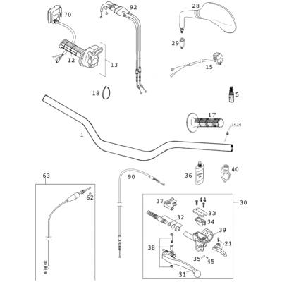 Handlebar; Instruments 400/520 Racing 2001