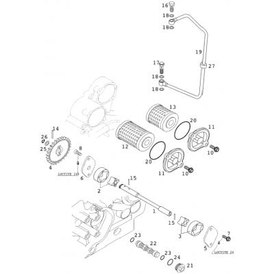 Lubrication System 400/520 Racing 2001