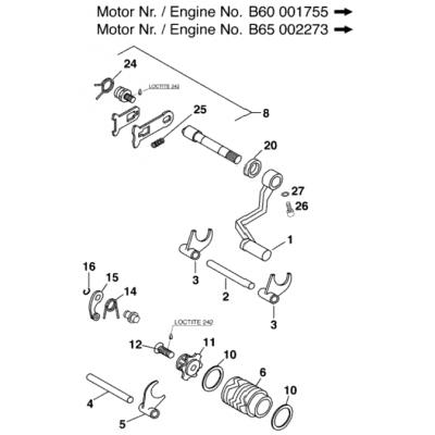 Shift Mechanism 60/65 Ccm Ii 2000