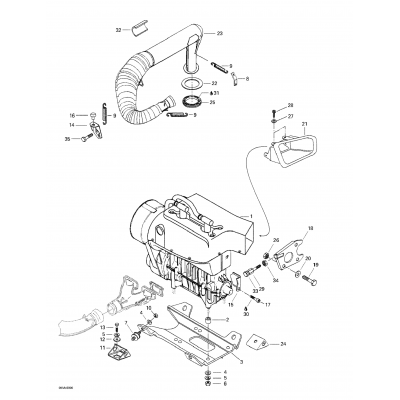 Engine Support And Muffler