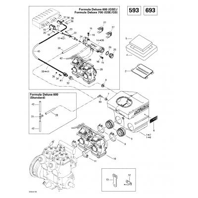 Air Intake System (593, 693)