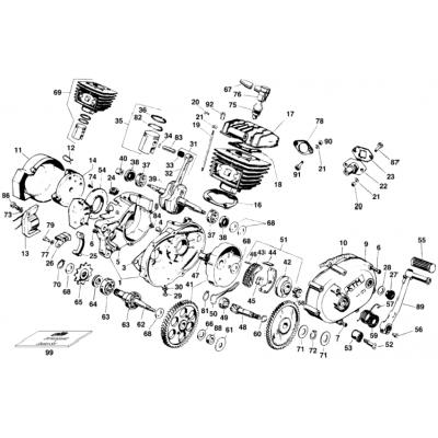 Motor S5-E Morini 50Ccm '98