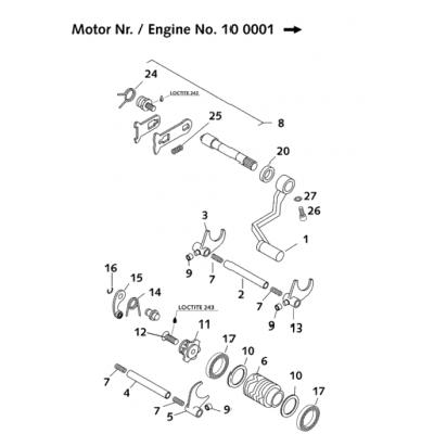 Shift Mechanism 65 Ccm Ii 2001