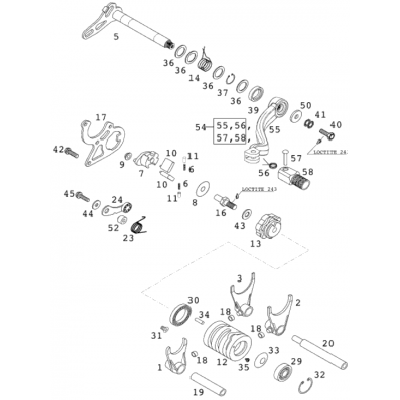Shift Mechanism 125 Exe 2000