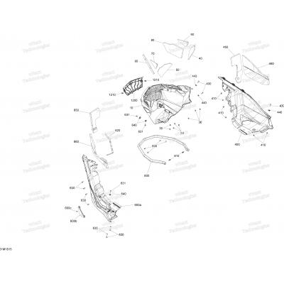 Bottom Pan MXZ Engine 850 E-TEC - Package Blizzard