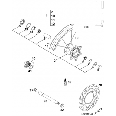 Front Wheel 400/640 Lc4 2001
