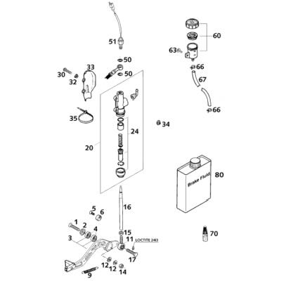 Rear Brake Operating System Lc4 2001