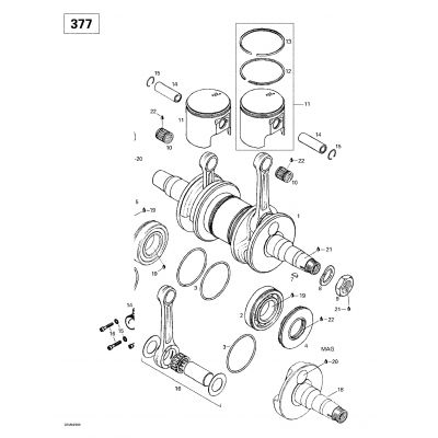 Crankshaft And Pistons (503)
