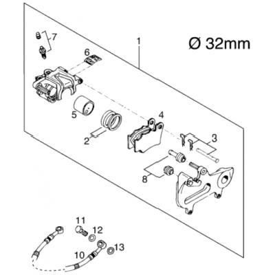 Brake Caliper Rear Brembo 125 Exe 2000