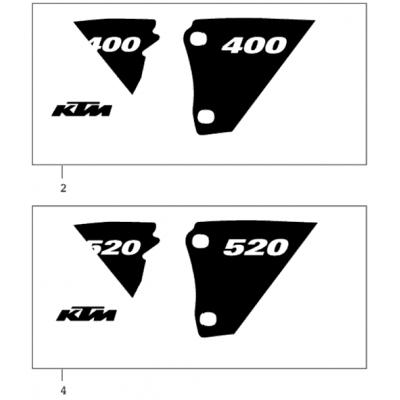 Decal Set 400/520 Racing 2001