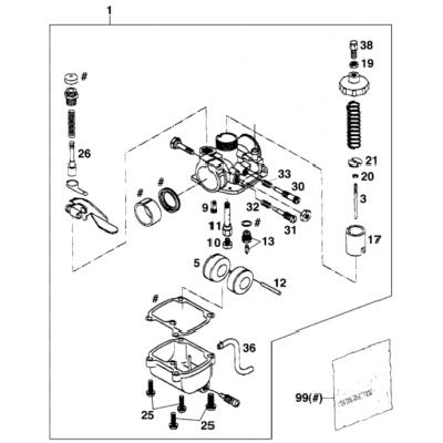 Carburetor Mikuni Vm16-519 '99