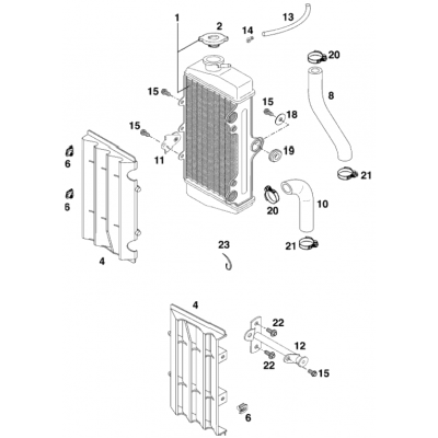 Cooling System 60/65 Ccm '98