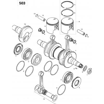 Crankshaft And Pistons 503