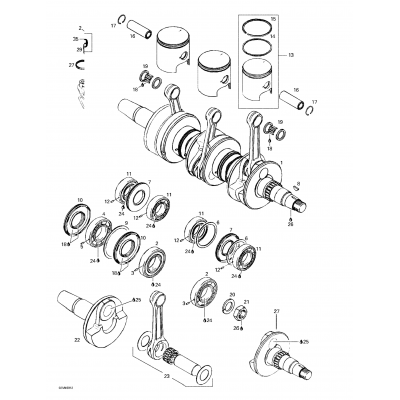 Crankshaft And Pistons (809)