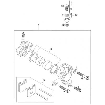 Brake Caliper Front 65Sx 2001