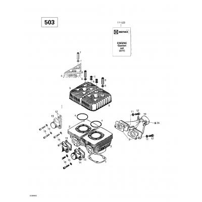 Cylinder, Exhaust Manifold (377)