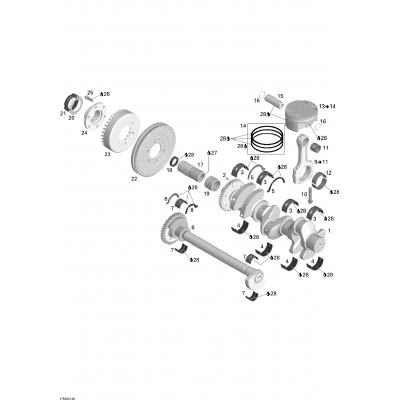 Crankshaft, Pistons And Balance Shaft