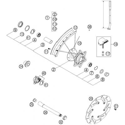 Front Wheel 125-380 Exc 2001