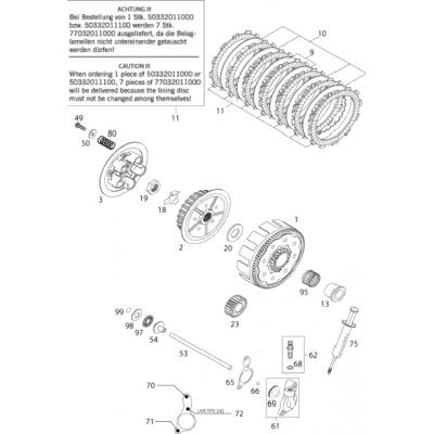 Clutch 125 Exe 2000
