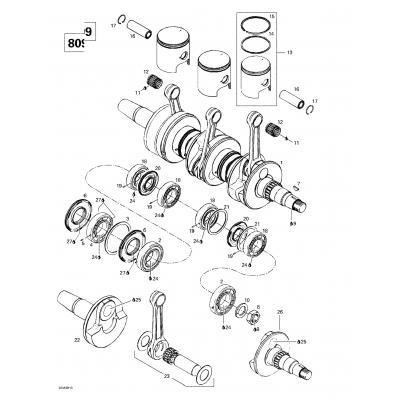Crankshaft And Pistons (699)