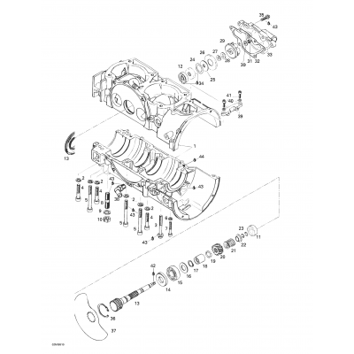 Crankcase, Rotary Valve, Water Pump