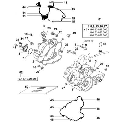 Engine Case 60 Ccm 2000