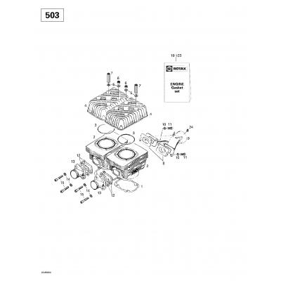 Cylinder, Intake Exhaust Manifold (503)