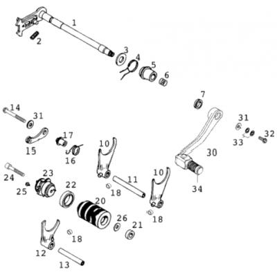 Shift Mechanism Lc4-E 400/640 '98