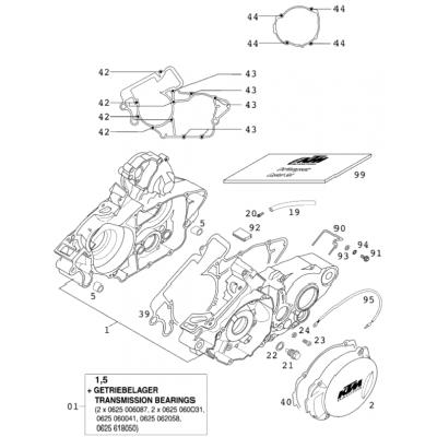 Engine Case 125 Exe 2000